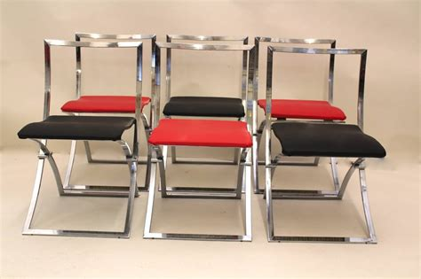 six folding dining chairs quot luisa quot by marcello cuneo 1970
