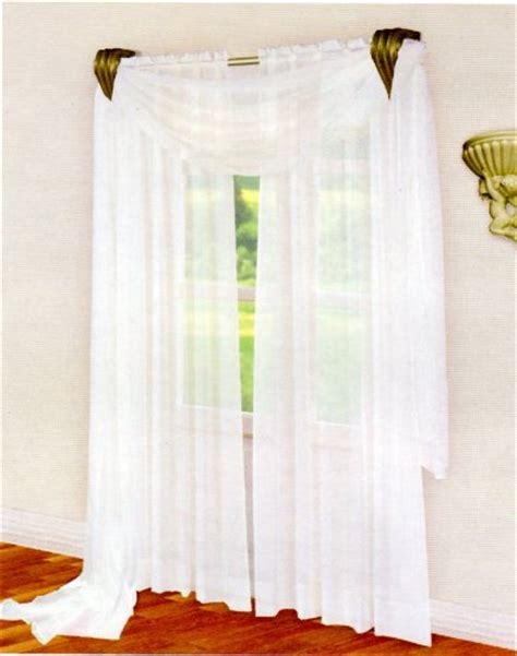 curtains stores beautiful sheer voile white 1 pair