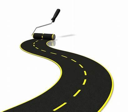 Road Roadmap Clipart Map Cliparts Clip Journey
