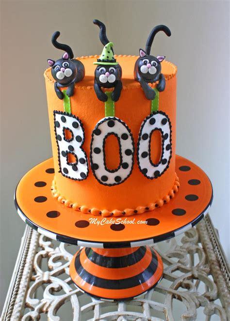 black cat halloween cake video tutorial  cake school