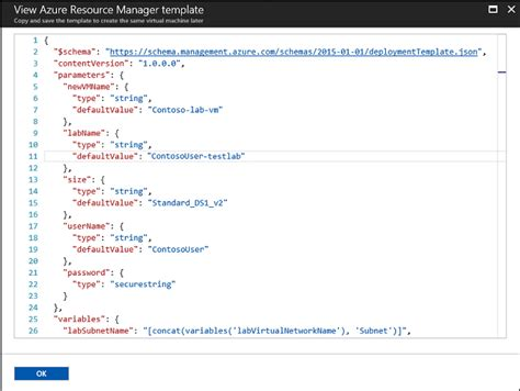 azure resource manager template view and use a machine s azure resource manager template microsoft docs