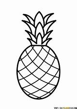 Pineapple Coloring Fruit Printable Drawing Template Sheets Clipart Ananas Onlycoloringpages sketch template