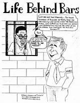 Behind Bars sketch template