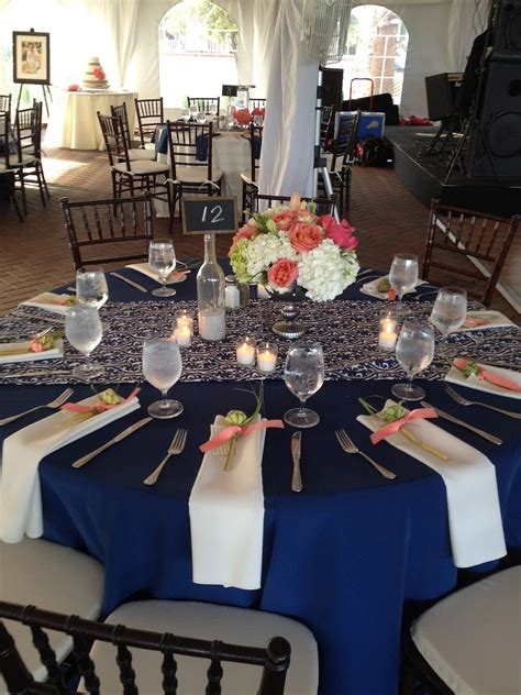 navy blue and white wedding table decorations home decor
