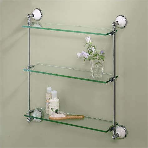 types    bathroom shelves