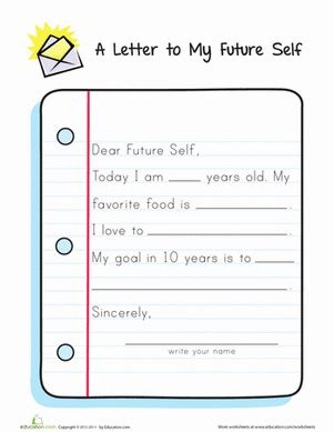 letter to future self template letter to my future self worksheets activities and family therapy activities