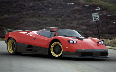 old pagani imagining the pagani zonda as a 1980s supercar carscoops com