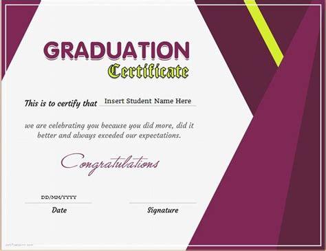 graduation certificate template  ms word