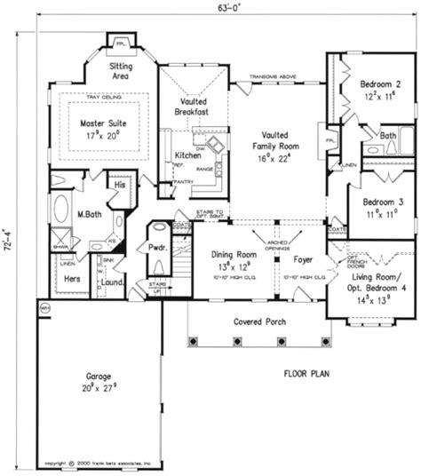 Frank Betz Basement Floor Plans by Broderick House Floor Plan Frank Betz Associates
