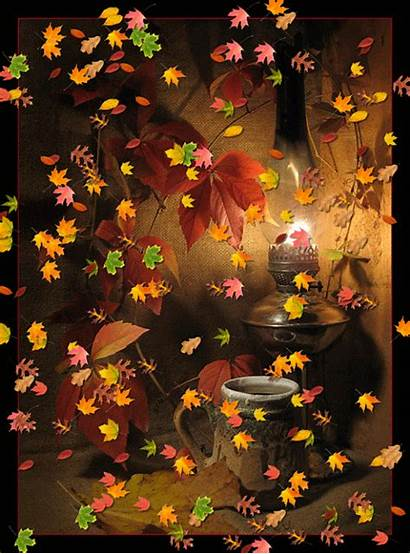 Fall Leaves Animated Falling Morning Autumn Moving