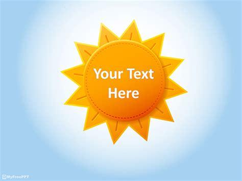 Sun Template Free Sun Powerpoint Templates Myfreeppt