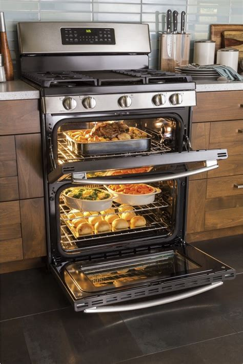 jgbsejss ge   standing gas double oven convection range stainless steel