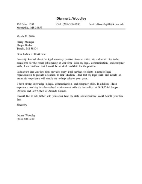 paralegal cover letter sle entry level paralegal cover