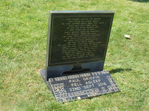 pet memorial plaque headstone engraved granite plaque