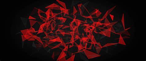 red  black polygon hd  wallpaper