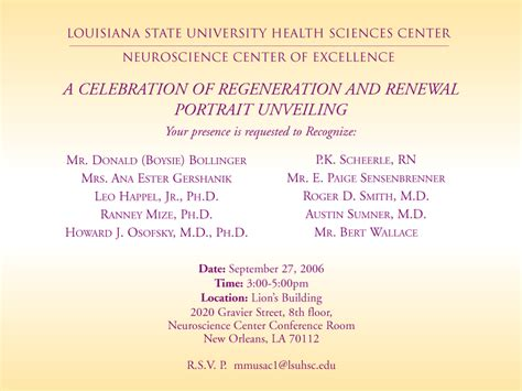 lsuhsc school medicine neuroscience center excellence calendar