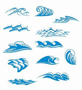 Blue waves graphics vector Free Vector / 4Vector