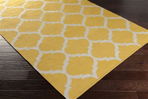 yellow throw rug artistic weavers vogue everly awlt3001 yellow white area rug