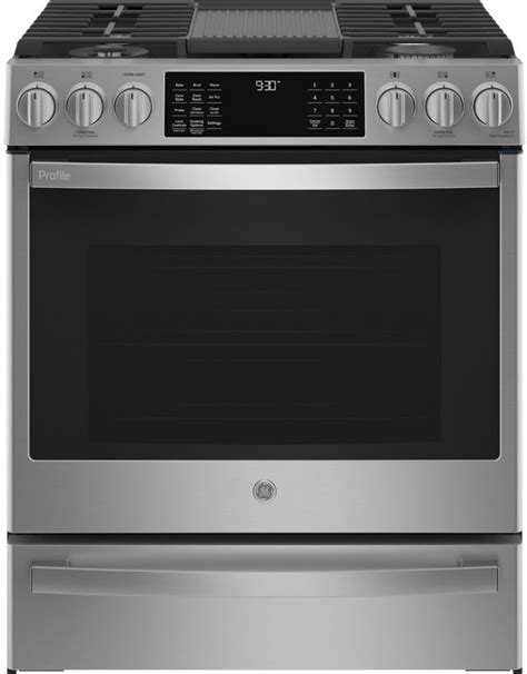 ge profile    front control gas range pgs friedmans appliance