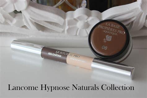 lancome hypnose naturals collection la base paupieres pro le sourcils pro  swatches