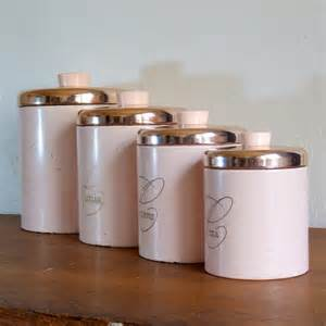 pink kitchen canisters pink metal ransburg kitchen canister set