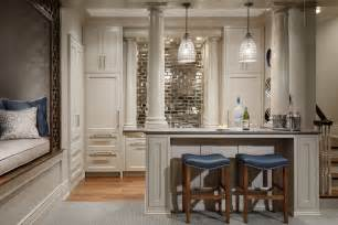 Mirror Backsplash In Kitchen Mirror Backsplash Home Bar Traditional With Mirror Subway Tile Countertop Columns