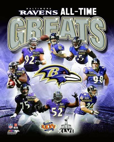 Baltimore Ravens Football All-Time Greats (8 Legends ...