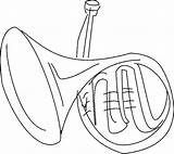 Horn Coloring sketch template