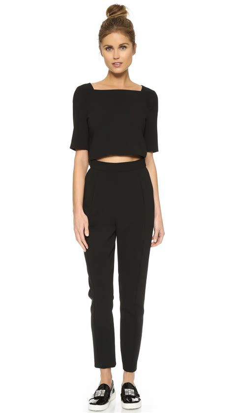 two jumpsuit black halo bilzen two jumpsuit in black lyst