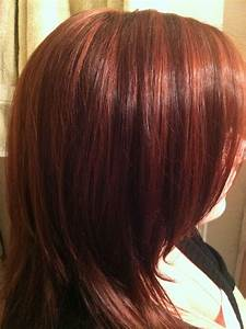 Red lowlights w brown hair i ve done colors had