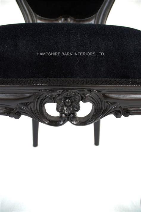french chateau noir style ornate chair black velvet
