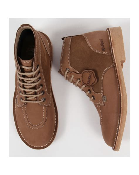 kickers legendary boots in suede brown legendary mens kickers boots