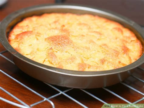 fix  burnt cake  steps  pictures wikihow
