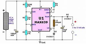 Solar Cell Nicad Charger Circuit Diagram