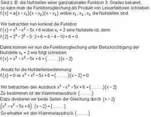 Nullstellen Berechnen Ganzrationale Funktionen : achsenschnittpunkte und nullstellenberechnung mathe brinkmann ~ Themetempest.com Abrechnung