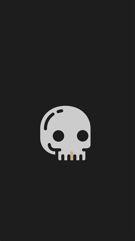 tap     app art black skull minimalistic