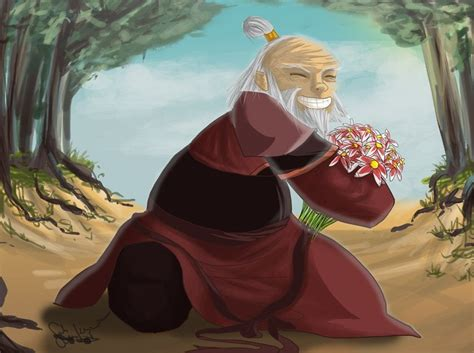 Iroh And His Flowers Thelastairbender
