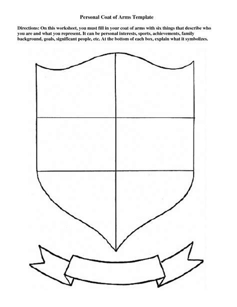 blank coat of arms worksheet www pixshark images