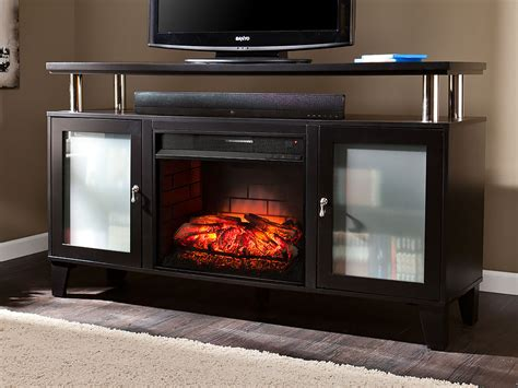 Cabrini Black Infrared Electric Fireplace Media Console
