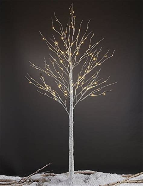 lightshare 8ft 132 led birch tree home festival party christmas indoor and outdoor use warm