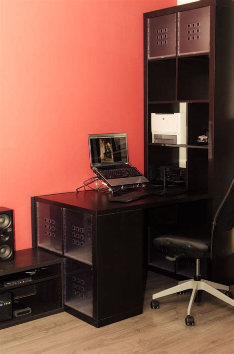 ikea expedit 2 x 1 17 best ideas about kallax desk on shared office ikea small desk and office room ideas