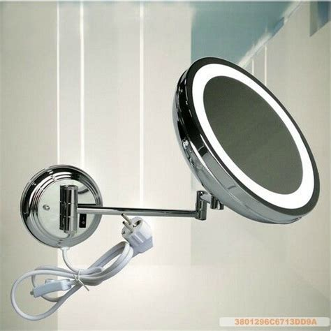 Bathroom Magnifying Mirror by Magnifying Bathroom Led Lighted Wall Mounted Makeup