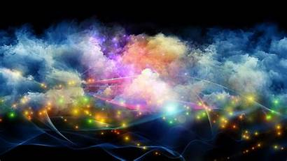Smoke Colorful Galaxy Abstract Background Space Digital
