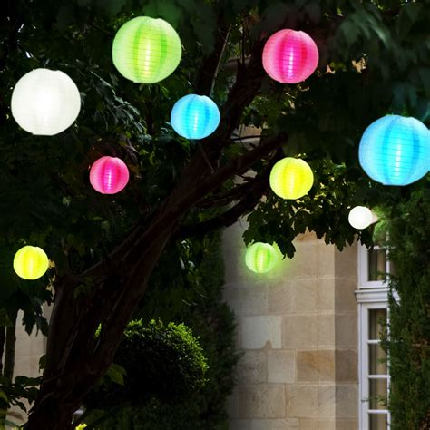 Led Solar Hänge Lampen Lampion Lichterkette Garten