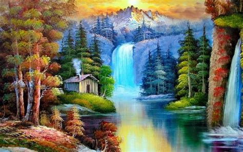 Natural Painting Abstract Wallpaper Art Paper Fine