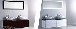 Meuble vasque salle de bain design carrelage salle de bain for Salle de bain design avec meuble deux vasques salle de bain