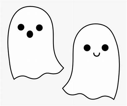 Ghost Cartoon Clipart Pages Transparent Coloring Clipartkey