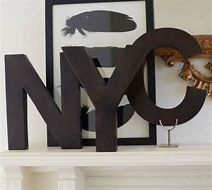 Metal letters bronze pottery barn for Pottery barn metal letters