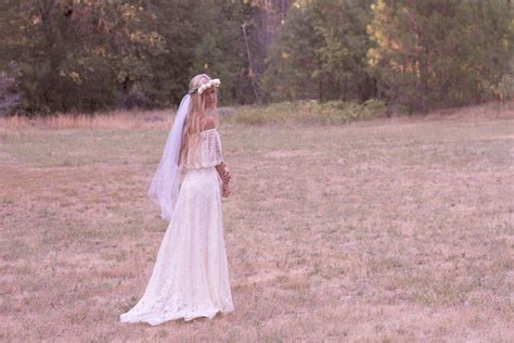 Bohemian Wedding Dress Off The Shoulder Lace By