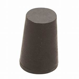 Everbilt 1-1/4 in x 1 in Black Rubber Stopper-808278